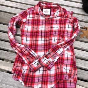 Juniors XS Ling sleeves flannel - SO from Kohl's